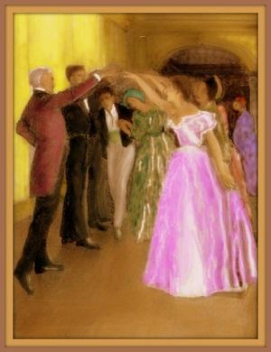 Dancing the Virginia Reel.