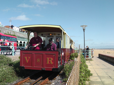 The Volks Electric Railway at Brighton, UK.