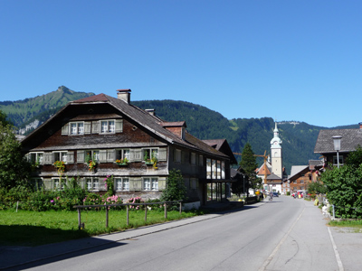 A photograph of Vorarlberg Bezau Village.