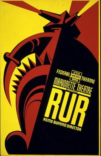 WPA Poster for RUR at the Federal Theatre.