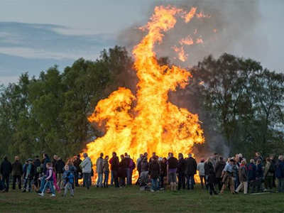 A Walpurgis Night bonfire