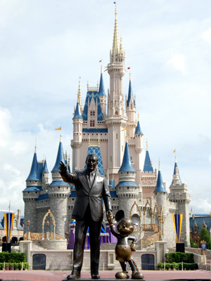 Photograph of Disneyworld.