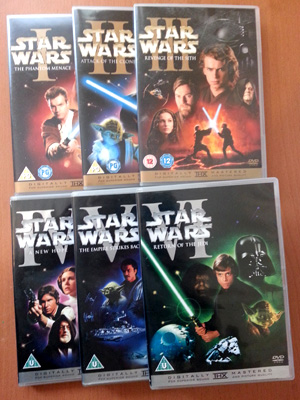 A selection of Star War DVDs