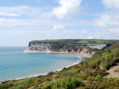 A view of Whitecliff Bay.