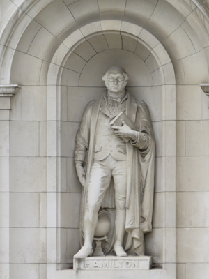 Statue of William Rowan Hamilton at Government Buildings, Dublin