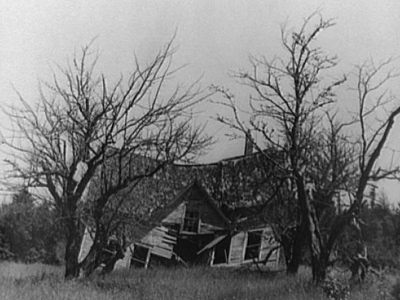 Photograph taken in 1936 of the Witch's House, Maine.