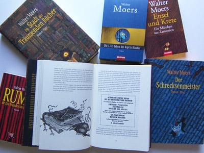 A collection of books about the lost continent of Zamonia.