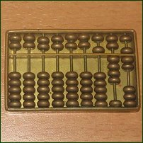 An abacus reading 547.