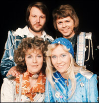The four members of Swedish supergroup ABBA