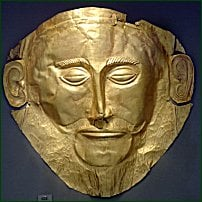 A gold plate of Achilles' king, Agamemnon.