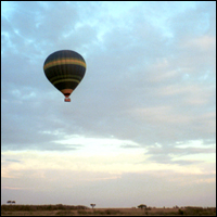 A hot-air balloon.