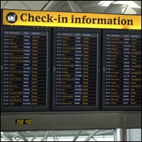 Airport flight information.