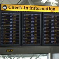 Airport flight information.