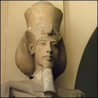 A statue of the Pharaoh Akhenaten, in Cairo's Egyptian Museum of Antiquities.