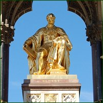 The statue at the centre of the Albert Memorial.