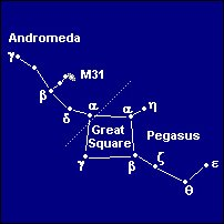 The constellation Andromeda next to Pegasus