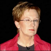 Anne Robinson gives her trademark wink.