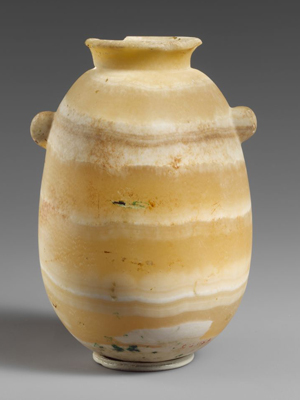 An antique alabaster vase