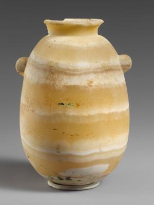 An antique alabaster vase