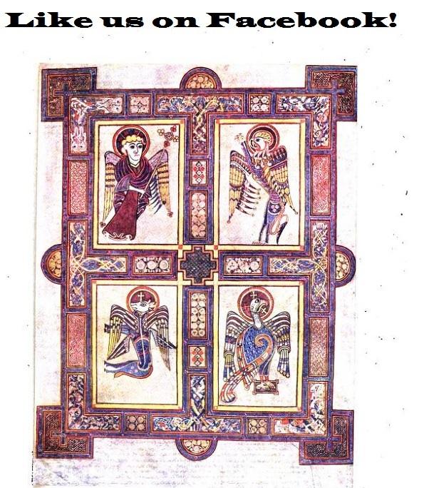 Like the Book of Kells on Facebook.'