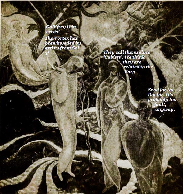Gallifreyan art critics give Rassilon a headache.'