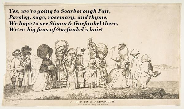 Group headed for Scarborough Fair to hear Simon and Garfunkel.