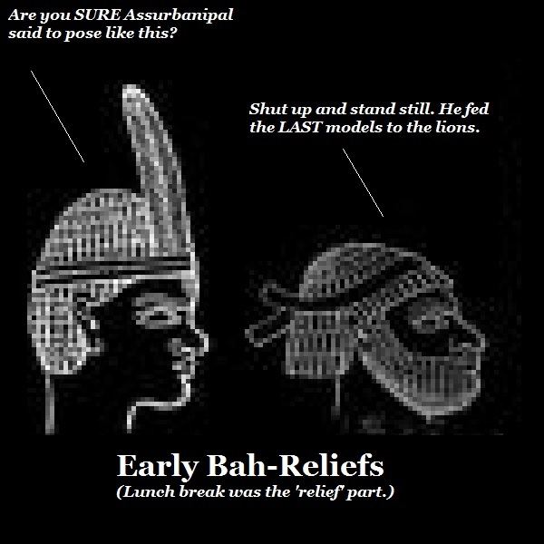 The invention of the bah relief.