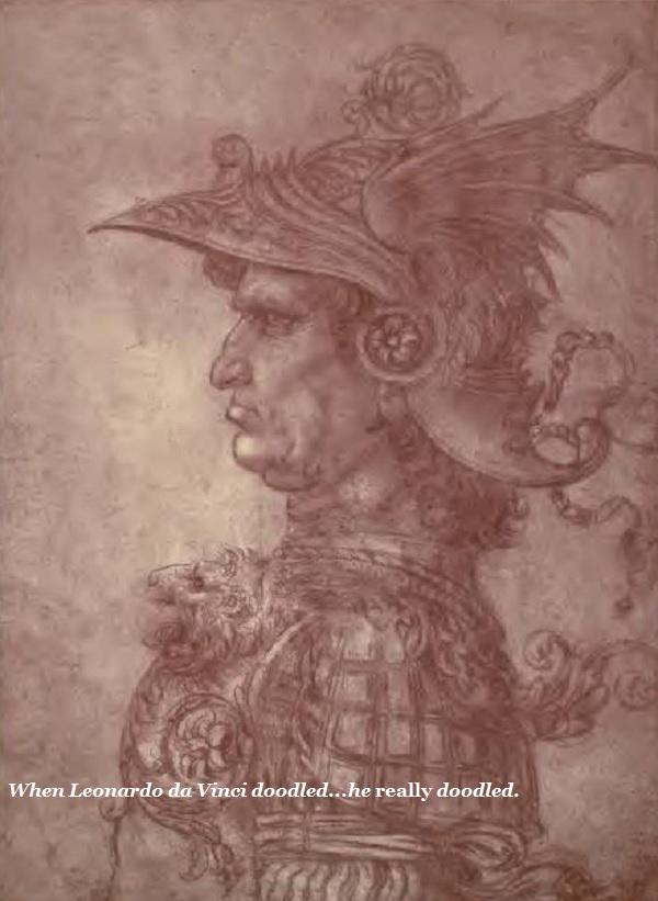 A da Vinci doodle.'