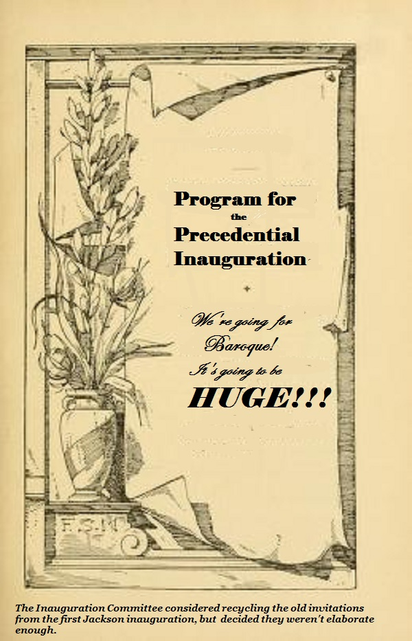 A possible programme for the upcoming US inauguration.