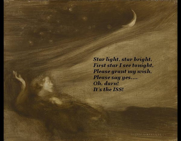 Poet wants to wish upon a star (dramatically), but is disappointed that it's the ISS.