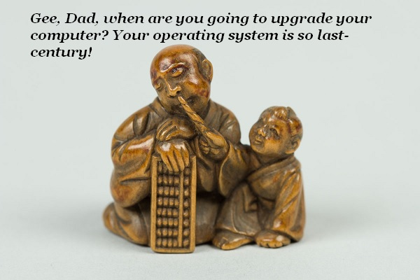 This 18th-century netsuke commemorates the time Junior tried to get Dad to update his operating system.