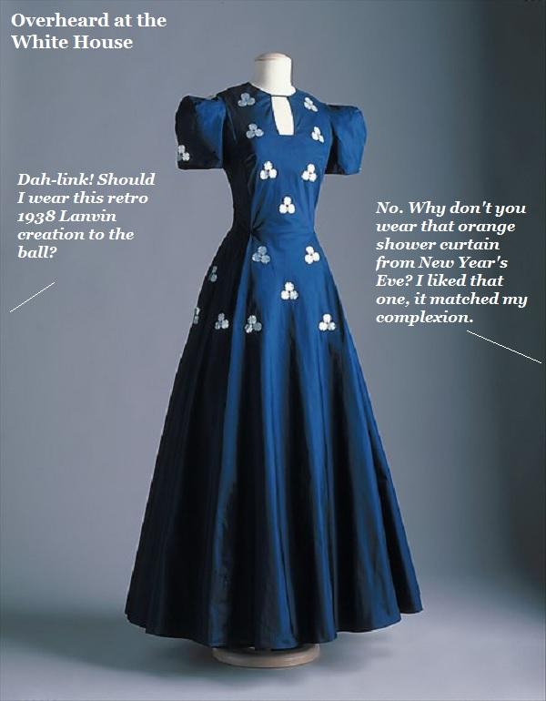 A designer dress by Lanvin.