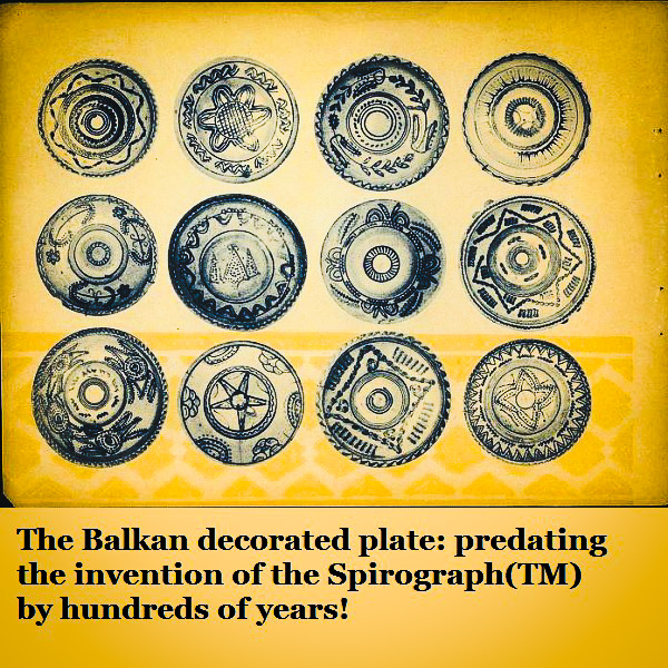 A collection of Romanian plates.'