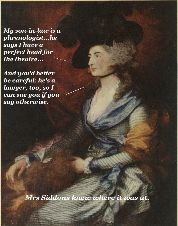 Mrs Siddons threatens a painter.'