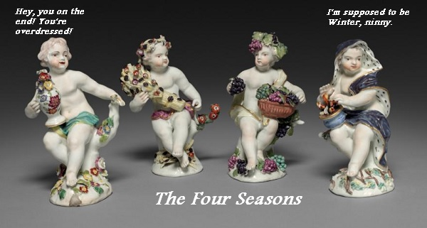 Three of the four putti representing the four seasons think Winter is overdressed.
