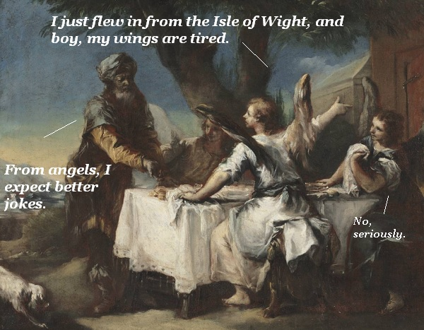 Abraham receives an angelic visitation, but all they do is tell old jokes.