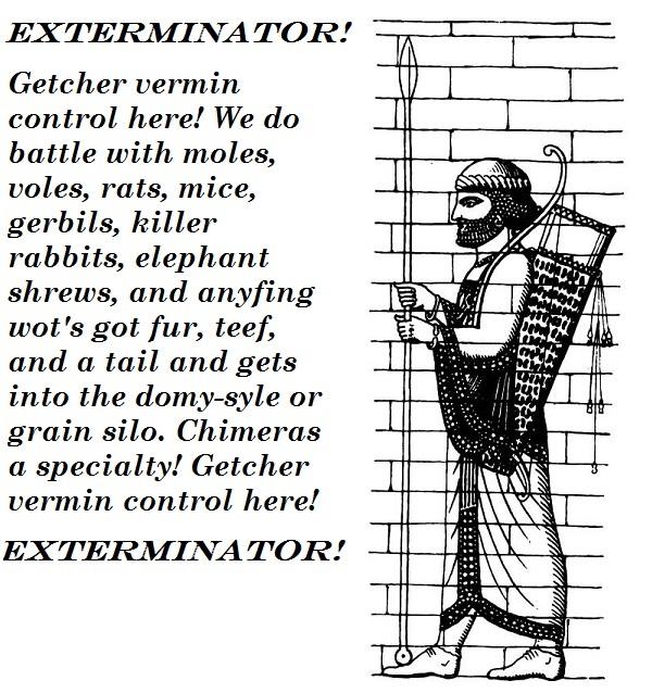 Persian exterminator.