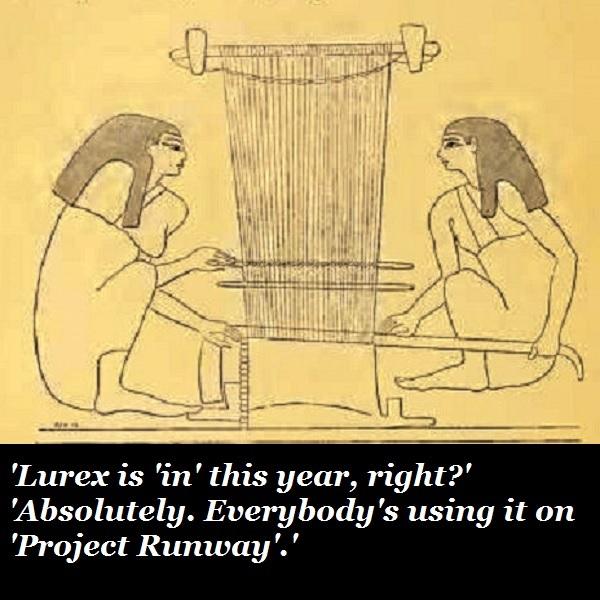 Ancient lurex weaving.