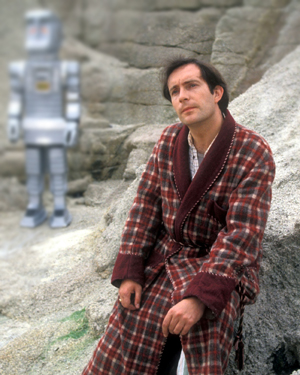 Simon Jones as Arthur Dent in 'The Hitchhiker's Guide To The Galaxy', a sci-fi comedy series written by Douglas Adams
