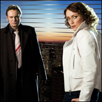 Philip Glenister and Keeley Hawes in BBC One's Ashes to Ashes.