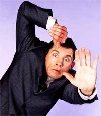 Comedian Lee Evans struggling to be more assertive.