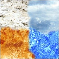 Earth, air, fire and water - the elements before the discovery of a few more.