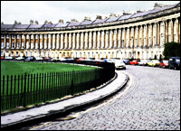 Bath Royal Crescent Terrace.