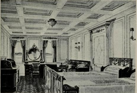First-class bedroom aboard RMS Titanic