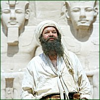 Matthew Kelly as Giovanni Belzoni seen here at Abu Simbel in 'Egypt: The Temple Of The Sands.'