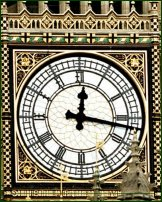 The clockface of Big Ben.