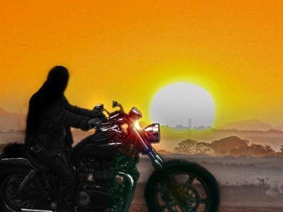 Biker's dawn.