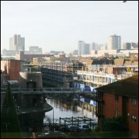 A view of the Birmingham Canal.
