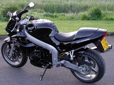 Black Triumph Motorbike