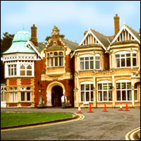The ornate main building at Bletchley Park.